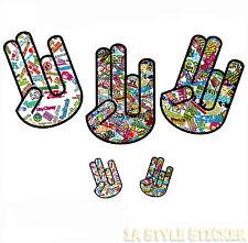 5 SHOCKER Aufkleber set fun gag funky sticker decals shocker aufkleber hand off