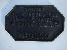 CAST IRON RAILWAY CARRIAGE WAGON IDENTIFICATION CONSTRUCTORS BUILDER PLATE 3of14