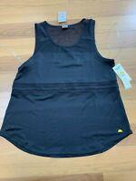 NWT C&C California Ladies Black Mesh Tank Top Active Wear Gym Workout Size Large
