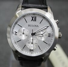 Watch Chronograph Bulova 96A142 Classic Men's - Silver and leather NEW €.279