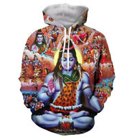 Hot Lord Shiva funny 3D print Hoodie Men Women Casual Sweatshirt Pullover Tops