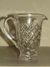 """GORGEOUS LARGE 7 1/2"""" WATERFORD * ALANA * FOOTED CRYSTAL PITCHER ~ DIAMOND CUTS"""