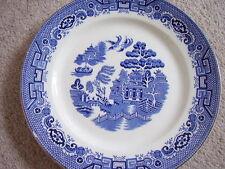 Burslem England porcelain blue and white plate-dish,Willow