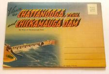 VINTAGE CHATTANOOGA+CHICKAMAUGA  PICS Postcard Folder Fold Out  MB/DXCS-17