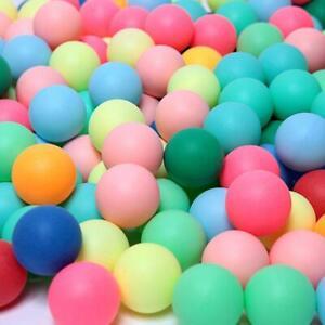 100PCS Colored Pong Balls Entertainment Table Multi Tennis Colors Ball UK