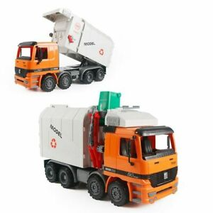 Orange Garbage Truck Large Size Action Figure Vehicle Toy Model 35.5cm / 14.3in.