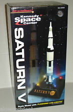MB NASA APOLLO KENNEDY SPACE CENTER SATURN V SCALE MODEL ROCKET W/LED LIGHTS NEW