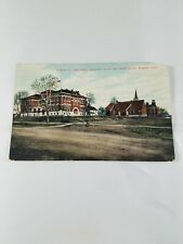 Vintage Real Photo Postcard Kingman Co High School Kansas 1c Litho-Chrome 1909