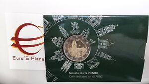 coin card 2 euro 2017 LITUANIA Vilnius Lituanie Litauen Lietuva Литва Lithuania