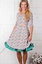 Matilda Jane Down On The Farm Dress Gray Floral Size L Large NWT