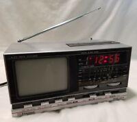 Vintage 1984 Emerson Black/ White Portable Television BCR 45A  bcr45a
