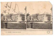 CPA 37 - TOURS (Indre et Loire) - 13. Palais de Justice - Carte stéréoscopique -