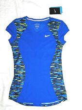 womens NIKE running print racer blue top shirt size XS NEW nwt $34