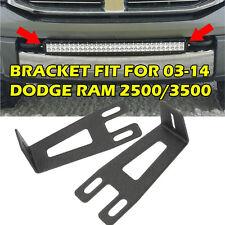 """20"""" 22"""" LIGHT BAR Bumper LED Mount Bracket Fit For 2003-2014 Dodge Ram 2500/3500"""