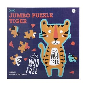 Jigsaw Puzzle Tiger Paper Jumbo Sized 59 Pieces Educational Children Kids Toy