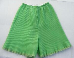 Eve Stillman Petticoat Slip Shorts Tap Pants Lingerie Knife Pleated Vtg Unique