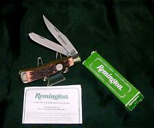 "Remington R12 Trapper Knife 1980's Camillus SFO 4-1/8"" Closed W/Packaging,Papers"