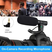 DSLR Camera Microphone Camcorder Cardiod Pickup External for Nikon Canon Video
