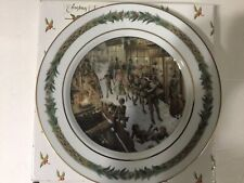 "Department 56 Christmas Classic Collector Plate ~ No II -""Down a Slide"""