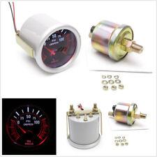DC12V 2'' 52mm Round Car Autos Red LED Bar Turbo Oil Pressure Gauge Meter+Sensor