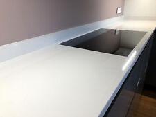 Küchenarbeitsplatte Stein Arbeitsplatte Kücheninsel HOCHGLANZ WEIß Abdeckung NEU