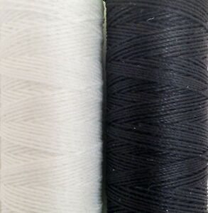 coats thread..Extra Strong No10s,unsnapableThread 60 metres blk&wht with needle,