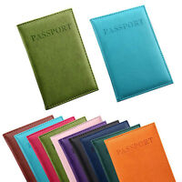 Durable Travel ID Card Passport Credit Cards Leather Case Cover Holder Protector