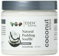 Eden Body Works Coconut Shea Pudding Souffle Formulated To Reduce Frizz 16 Oz