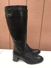 EUC Balmain Riding Black US 8.5 EUR 40 Leather Boots Buckle Full Zip