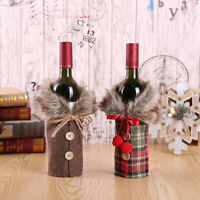 Merry Christmas Santa Wine Bottle Bag Cover Xmas Festival Party Table Decors KY