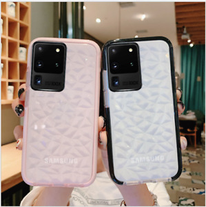 Shockproof Soft Clear Case Diamond Bumper Cover for Samsung S20 S10 A51 A71 S9