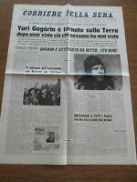 Yuri Gagàrin e tornato sulla terra , sta bene - 4 giornali di epoca 1961