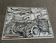 Large Monster Truck Velvet Colouring picture Board . ( Design As Shown)