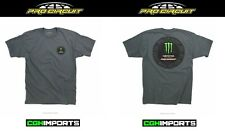 PRO CIRCUIT MONSTER ENERGY PATCH T-SHIRT TEE LARGE GREY MX MENS CASUAL APPAREL