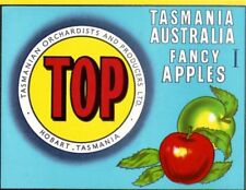 "SALE- Vintage Tasmania Apple Case Labels Fruit Art Poster ""baker's dozen""-S (13)"