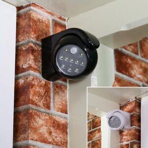 360° Battery Power Motion Sensor Security LED Light | Garden Outdoor Indoor PIR