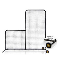L-Screen Baseball Pro Style Pitching Net 7x7 | Wheels Included | Pitchers Safety