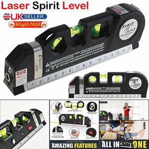MultiPurpose Tape Measure DIY Spirit Level with Laser Horizontal Cross Rule Tool