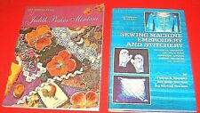 Lot of 2~Embellishments & Sewing Machine Embroidery Books~Gd/Vgc~Lot#Sb-29
