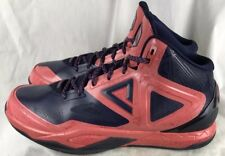 62ccd3e87a3 Peak Mens 12D Tony Parker Basketball Shows Navy Red Pink Performance RARE!