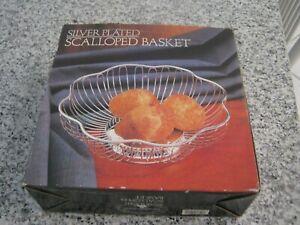 NIB Paul Revere Silversmiths Silver Plated Scalloped Basket Godinger Silver1987