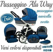PASSEGGINO TRIO ALU WAY + NAVICELLA + OVETTO!VARI COLORI