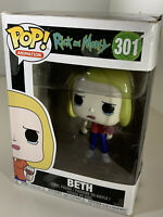 Funko POP! Rick and Morty Beth with Wine Glass #301 New in Damaged Box