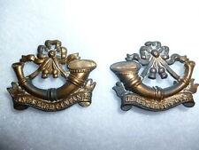 Rare King's Shropshire Light Infantry 1881-82 Collar Badge Pair, Churchill 1417