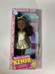 """Kenya-Sparkle And Shine 12"""" African American Doll with Magic Hair-NEW-Free Ship!"""