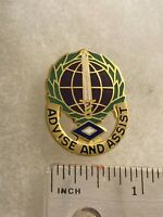 Authentic US Army 306th Civil Affairs Group Unit DI DUI Pin Crest Insignia 22M