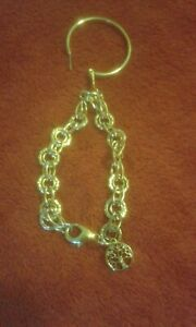 LADIES GOLD SILVER DIAMOND TONE BRACELET OR EARRING WITH TREE OF LIFE PENDANT