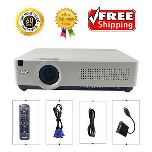 Sanyo PLC-XU350A 3LCD Projector 3500 Lumens HDMI-adapter HD 1080i w/Accessories