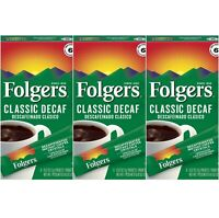 Folgers Classic Decaf Instant Medium Roast Coffee 3 Pack (3 Boxes/18 Packets)