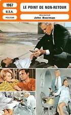 FICHE CINEMA : LE POINT DE NON RETOUR Marvin,Dickinson,Boorman 1967 Point Blank